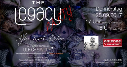 htmlentities(Vernissage Ulrich HM WOLF The Legacy Party Afterwork Deluxe, ENT_COMPAT, 'ISO-8859-1')